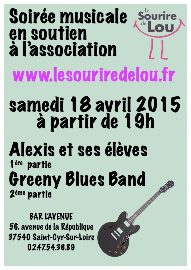 affiche concert 18 avril 2015 - bar de l'avenue